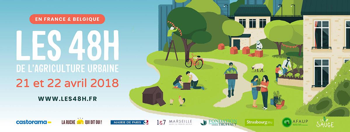 Les 48h de l'agriculture urbaine Strasbourg du 20 au 22 avril